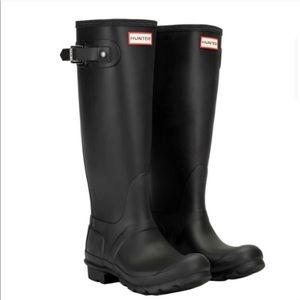 Hunter Rain Boots -Tall Matte Black